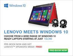 Choose wide range of Lenovo windows10 laptops