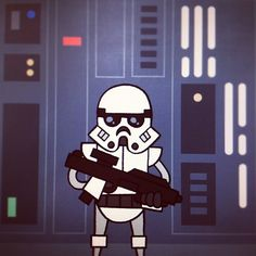 Star Wars Hipster Style Portraits /// Stormtrooper /// by Jason Yang