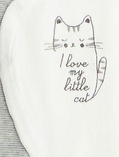 Pyjama velours chat                                                                                         blanc Bébé fille