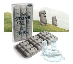 Fred & Friends Stone Cold Ice Trays by Fred. $5.25. Great for parties, the ice cubes are sure conversation starters. Entertain friends and family with whimsical ice cubes in the shape of the famous Moai stone statues. Cleanup is a snap since the tray is dishwasher safe. Made of flexible silicone, the tray easily expels frozen ice. Endow drinks with the statues' mysterious aura and keep them icy cold at the same time. Fred & Friends the moai of easter island keep their wat...