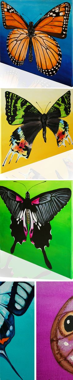 Bold & striking butterflies & moths fine art paintings museum grade prints available at  www.goforthadornments.com.