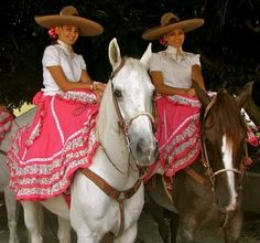 Sidesaddle charras in Jalisco, Mexico