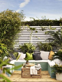 Looking for small garden decking ideas to transform your space? These cleverly designed gardens show you how to incorporate it into even the tiniest of gardens Small Garden Decking Ideas, Small Garden Fence, Back Garden Design, Sloped Garden, Small Space Gardening, Small Gardens, Outdoor Gardens, Small Back Garden Ideas, Small Garden Inspiration
