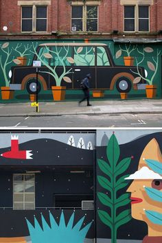 Mural painting by artist Agostino Lacurci #streetart