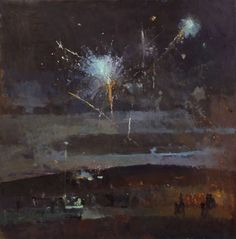 Fred Cuming RA, British contemporary figurative painter, galleries of paintings produced up to 1990 Dark Landscape, Watercolor Landscape, Abstract Landscape, Landscape Paintings, Landscapes, Flower Paintings, Oil Paintings, Nocturne, Firework Painting