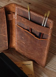 Moleskine leather cover Small by JustWanderlustShop
