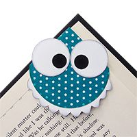 Paper Crafts - Teal Monster Bookmark