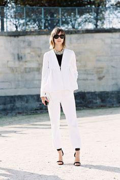White classic suit