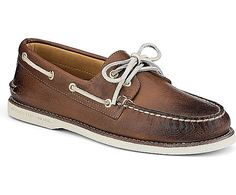 Sperry Top-Sider Gold Cup Authentic Original Burnished Leather 2-Eye Boat Shoe