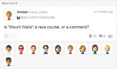 """People who get turned on when they hear """"Mount Wario.""""   25 People Who Should Be Banned From Nintendo's Miiverse"""