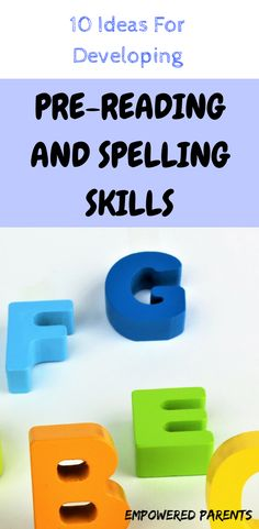 Teach your preschool child important pre-reading skills with these great ideas and activities from Empowered Parents. Developing pre-reading and spelling skills is vital for ensuring successful reading and spelling in the early grades. Educational Activities For Preschoolers, Pre Reading Activities, Preschool Literacy, Teaching Kindergarten, Learning Activities, Preschool Activities, Teaching Kids, Alphabet Activities, Reading Resources