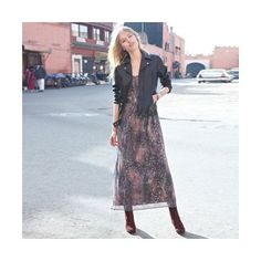 Robe longue drapée imprimée femme - 3Suisses