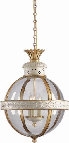 Circa Lighting + Pendant Lighting + Crown Top Banded Globe