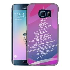 Samsung Galaxy S6 Edge Christmas tree on Pink Trans Case