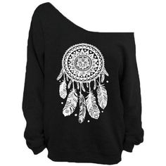 Dream Catcher Off the Shoulder Oversized Sweatshirt White Native... ($24) ❤ liked on Polyvore featuring tops, hoodies, sweatshirts, sweatshirts hoodies, native american sweatshirt, oversized off the shoulder sweatshirt, indian tops and white off the shoulder top