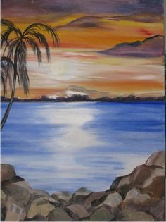 Paradise Found from Painted Conch • Acrylic Canvas Painting