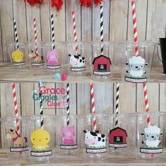 12 Personalized Farm Animal Themed Party Cups with Straws and Lids Second Birthday Boys, Cow Birthday Parties, Confetti Bags, Animal Cupcakes, Cup With Straw, Cowboy Party, Party Cups, Farm Animals, First Birthdays