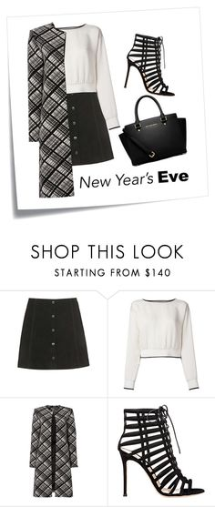 """""""New Years."""" by arybo13 ❤ liked on Polyvore featuring Post-It, Topshop, Theory, Ellen Tracy, Gianvito Rossi, MICHAEL Michael Kors, outfit, NewYearsEve, partystyle and nye"""