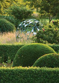 Landscape, Random Bronze Hoops Garden Sculptures & Statues: Rocking Garden Sculpture and Statues for The Contemporary Touch