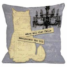 """Throw pillow with typographic detailing and a chandelier motif.    Product: PillowConstruction Material: PolyesterColor: Purple and multiFeatures: Insert includedDimensions: 18"""" x 18""""Cleaning and Care: Spot clean only"""