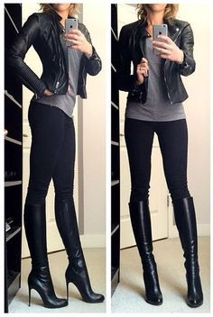 I love everything about this. It's simple, casual, edgy, and dressed up all at once.