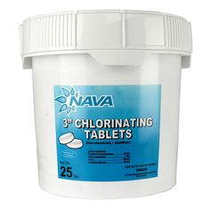 Nava 3-Inch Pool/Spa Stabilized Chlorinating Tablets, 25 Pounds | 12000294-25LB - 1-3 DAY DELIVERY! AUTH DEALER! WARRANTY! 60 DAY RETURNS #tablets #pounds #chlorinating #stabilized #inch #pool #nava