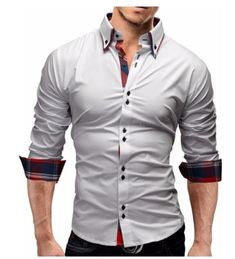 447400ea3bda Men Shirt Spring Business Men s Slim Fit Shirt Male Long Sleeves Casual  Shirt Camisa Masculina