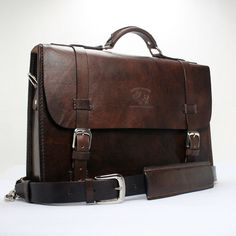 "Rustic Distressed Leather Messenger Bag  Briefcase Laptop Satchel fits Macbook Pro 15"" 073 by WhiteBuffaloRepublic on Etsy https://www.etsy.com/listing/222031484/rustic-distressed-leather-messenger-bag"