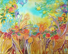 "For Sale: Garden Magic by Leah Jay | $250 | 28""w 22""h 