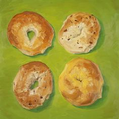 Bagels, original artwork by Mike Geno