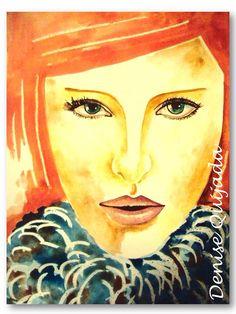 Acuarela, watercolor. Denise Quijada