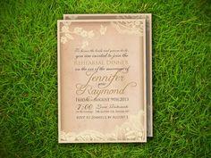 Wedding Rehearsal Dinner Invitation Card  by VintageBellsAndCo, $15.00
