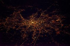 Russia At Night, Taken From ISS