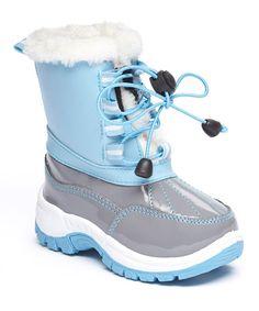 Look at this #zulilyfind! Light Blue Lace-Up Snow Boot #zulilyfinds