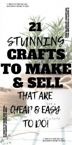 13 Easy Crafts To Make And Sell For Extra Money in 2019 Don't miss these easy crafts to make and sell if you want to start making extra cash from home. They're all cheap to make but look unbelieveably Easy Crafts To Make And Sell For Extra Money in 2019 Money Making Crafts, Easy Crafts To Make, Make Money From Home, How To Make Money, Christmas Crafts To Sell Make Money, Making Things To Sell, Christmas Makes To Sell, Christmas Crafts To Sell Bazaars, Sell Things