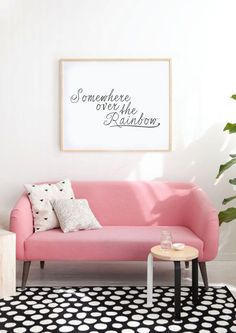 Somewhere Over The Rainbow  Typography Print  by lettersonlove