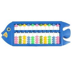 Amazon.com: Como Blue Plastic Fish Shaped Calculation Tool Soroban Abacus for Children: Toys & Games