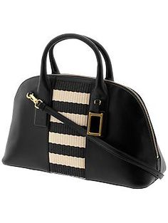 Marc by Marc Jacobs Show Off Stripey Straw Satchel | Piperlime
