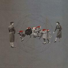 untitled - masahiro sato Mixed Media Collage, Collage Art, Collages, Collage Sculpture, Collage Illustration, Blue Painting, Visual Diary, Illustrations And Posters, Surreal Art