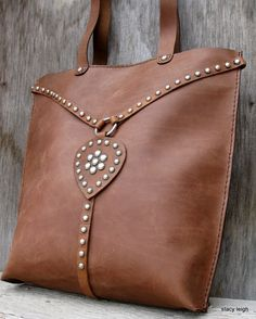 Equestrian Leather Harness Tote Bag