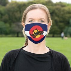 Colorado Flag and 4 Wheeler Cloth Face Mask snow clothes snowboarding, colorado snowboarding, snowboarding funny #snowboarding #snowboardingtime #snowboardingseason, back to school, aesthetic wallpaper, y2k fashion