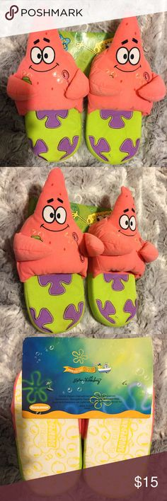 SpongeBob Squarepants Patrick Star Plush Slippers Brand new in package, Youth size 5. Can fit up to a women's size 6.5 so listing in both the women's and kid's category. These SpongeBob Squarepants Patrick Star Plush Slippers are so adorable and cute! A stitching that attaches one of Patrick's arms to his body has come undone but it is an easy fix or can be left undone (can be seen in the 2nd picture). Must have for any Patrick fan! Nickelodeon Other
