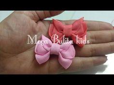 Mini Laço Alena na fita n°5 - YouTube Ribbon Art, Ribbon Hair Bows, Diy Hair Bows, Diy Bow, Diy Ribbon, Hair Bow Tutorial, Handmade Hair Bows, How To Make Ribbon, Making Hair Bows