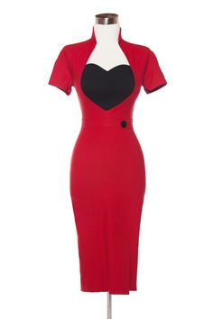 Pinup Couture Veronica Dress in Red