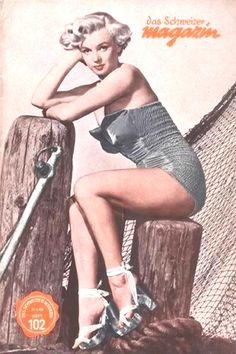 1951: Das Schweitzer Magazin magazine cover of Marilyn Monroe .... #marilynmonroe #normajeane #vintagemagazine #pinup #iconic #raremagazine #magazinecover #hollywoodactress #1950s