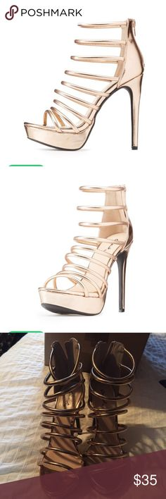 Rose Gold Heels These are such adorable shoes!!! Never worn, brand new in the box! Charlotte Russe Shoes Heels