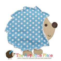 Raggy Hedgehog Machine Embroidery Applique by TheAppliquePlace, $4.00