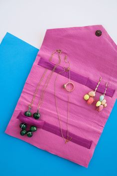 DIY: travel jewelry bag