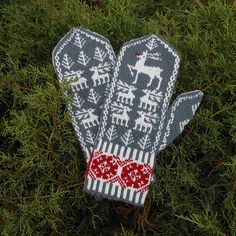 Ravelry: All the Reindeer Mittens pattern by Janet Welsh Knits