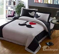 I Love #Mustaches #Bed Sheet set